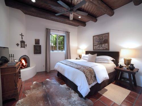 Pre 2014 Master Bedroom at Adobe Oasis in Santa Fe.