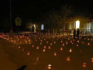 Acequia Madre Farolito Walk in Santa Fe, NM (December 24, 2014)