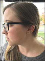 Helix Piercing by Brittany.