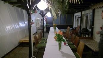 Die Gäste haben die Sukka verlassen - Zeit zum Schlafen