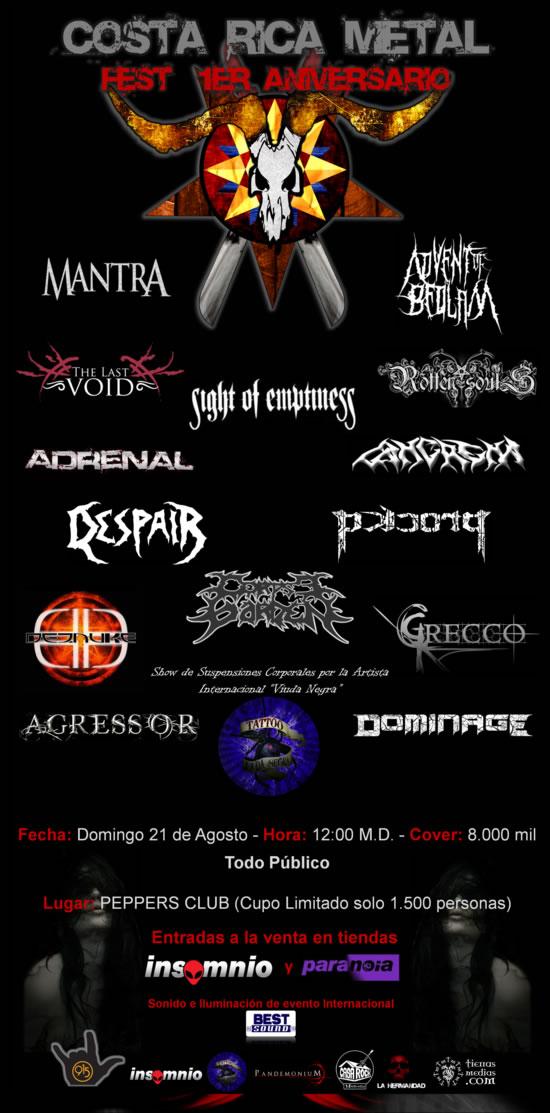 Costa Rica Metal Fest - Adondeirhoy.com