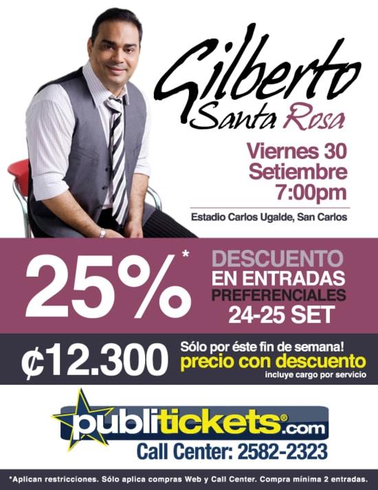 Adondeirhoy.com - Gilberto Santa Rosa en Costa Rica