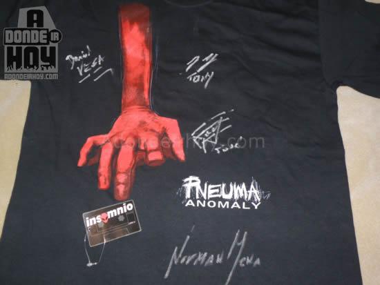 Adondeirhoy.com - Pneuma Metal Camisa Autografiada