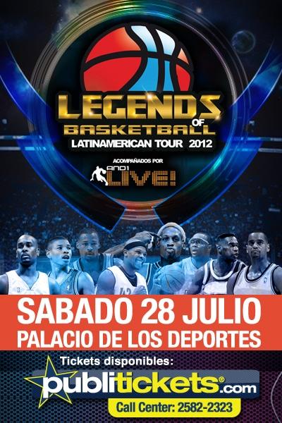 Leyendas de la NBA jugaran en Costa Rica