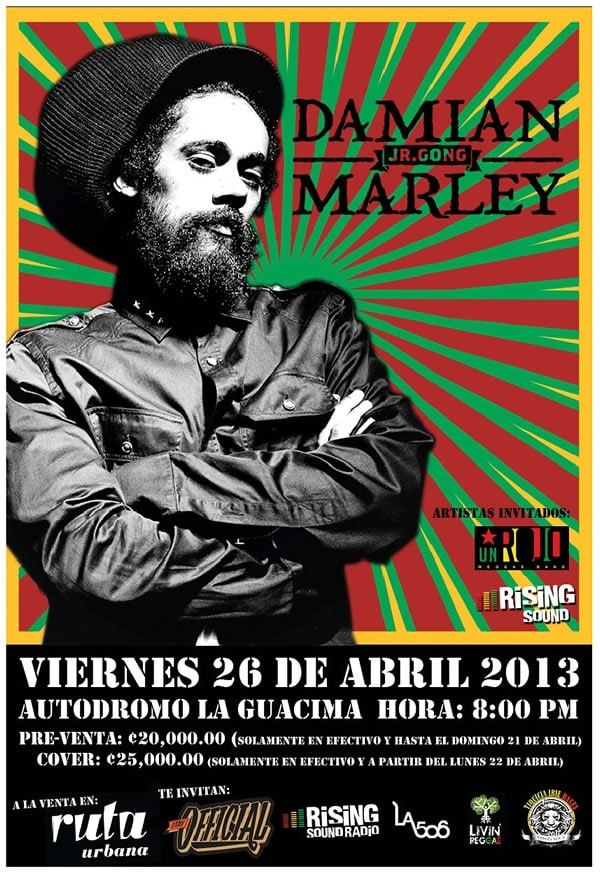Damian Marley en Costa Rica