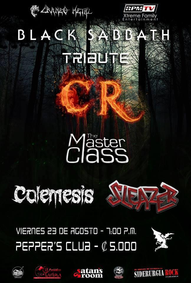 Telonero de Black Sabbath Costa Rica