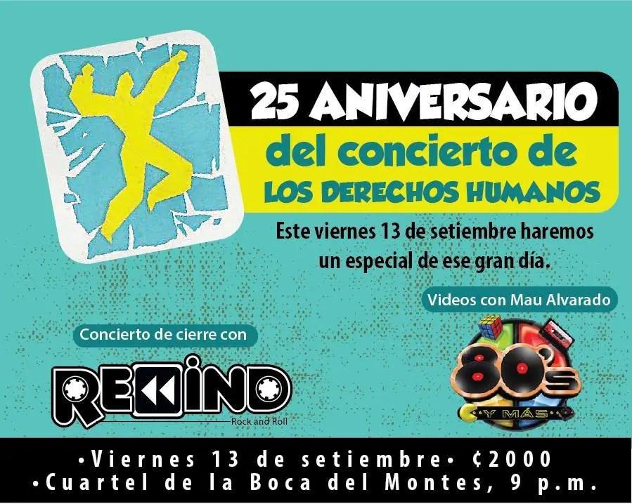 25 Aniversario del Concierto Derechos Humanos YA