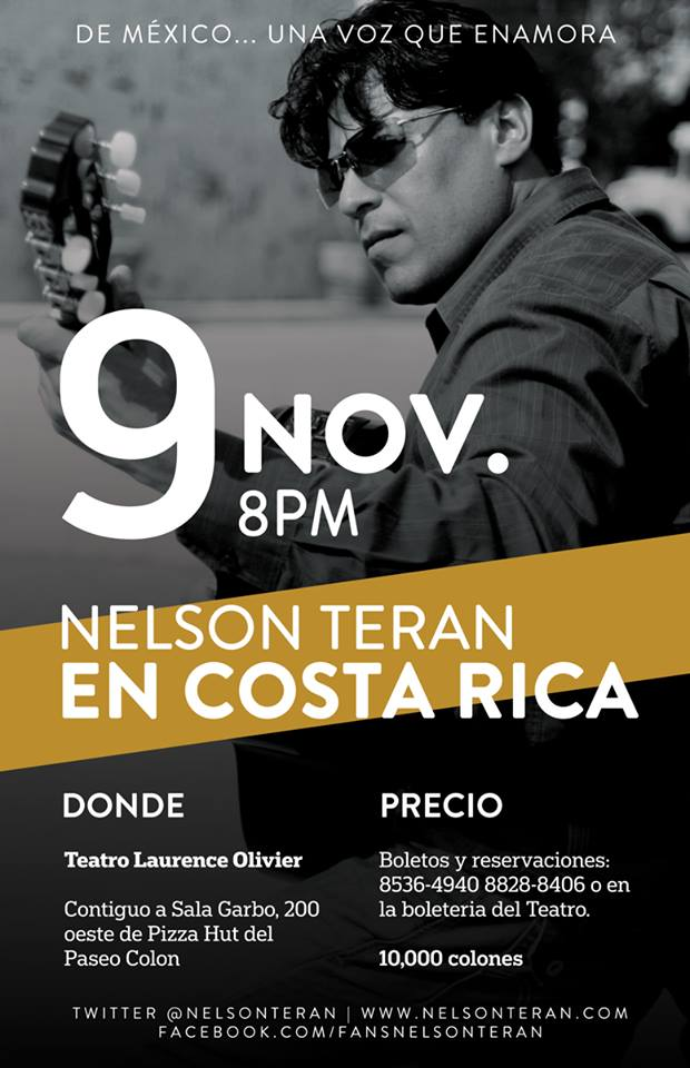 Cantautor Nelson Teran en Costa Rica