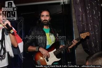 Gandhi en el Hard Rock Cafe Costa Rica