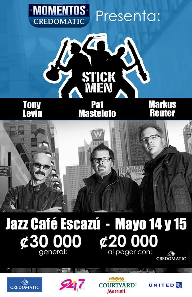 Tony Levin y Stick Men en Costa