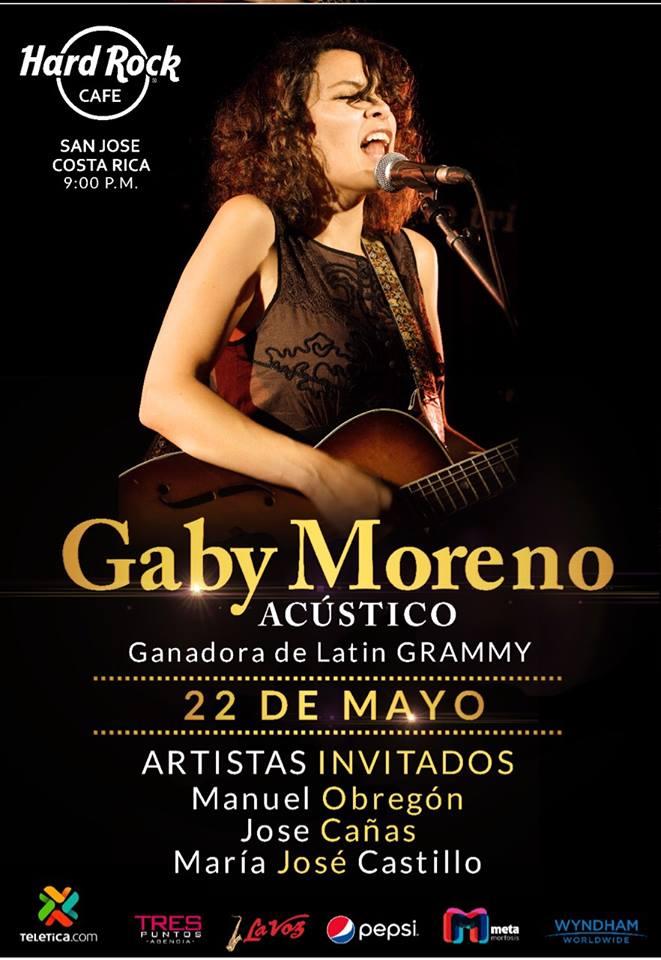 Vuelve Gaby Moreno concierto acustico en Hard Rock Cafe