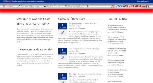 Nuevo portal de Noticias en Costa Rica