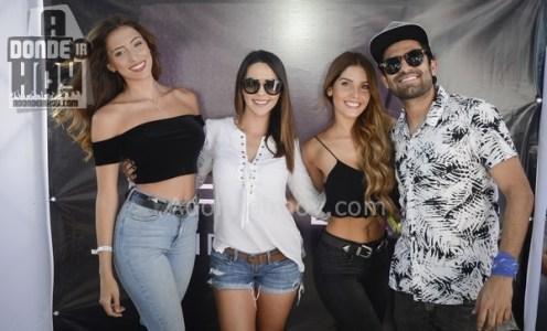 Natalia Carvajal, Keyla Sánchez, Karina Campos y Esteban Ramírez de Percance