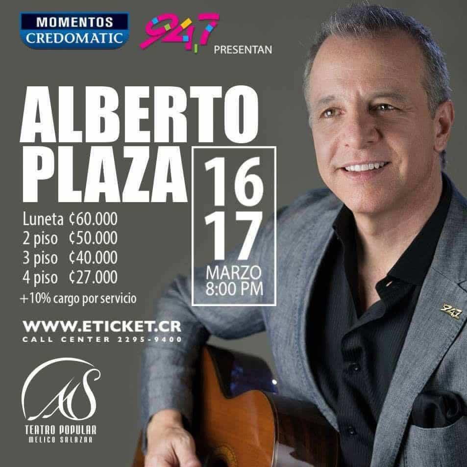 Concierto de Alberto Plaza 2017 en Costa Rica