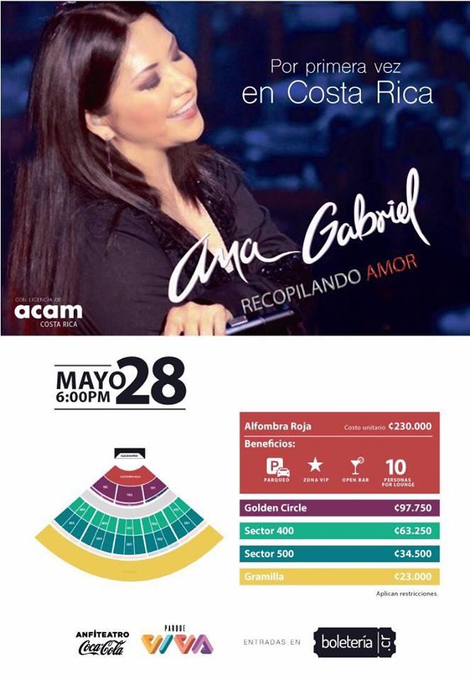 Concierto Ana Gabriel Recopilando Amor en Costa Rica