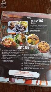 Menú Restaurante Rancho Samaná - Las Nubes de Coronado, Costa Rica