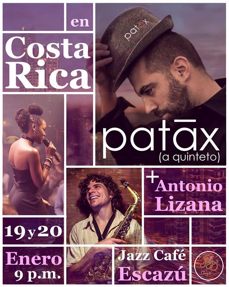 Conciertos de Patáx en Costa Rica con Antonio Lizana enero 2018