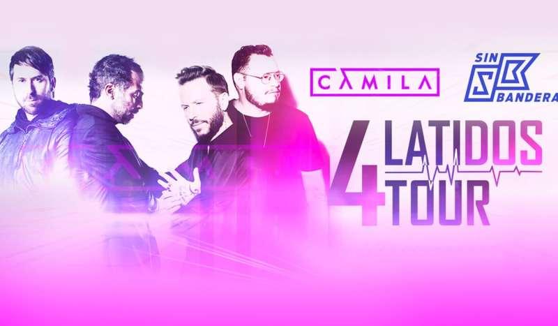Tour 4 Latidos Camila y Sin Bandera Concierto Costa Rica 2019