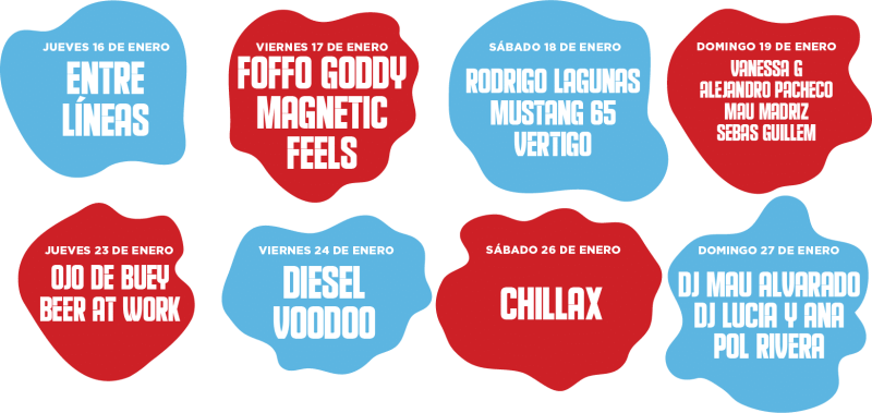 Calendario El Patio 2020 - Lineup Barra Imperial