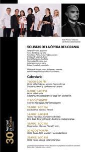 Festival de Música BAC Credomatic 2021 - Calendario 6