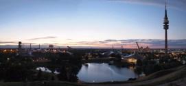 München Olympiapark im Sonnenuntergang