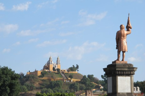 Cholula and S. Andreas above the piramid