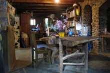 The cabin and the table