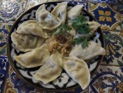 Vareniki with potatoes in the Uzbeck chaikhana