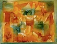 Paul Klee Fasçsade Braun-grün 1919