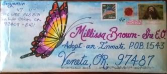 butterfly envelope