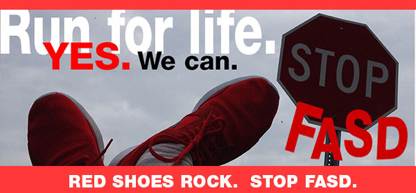 FASD red shoes