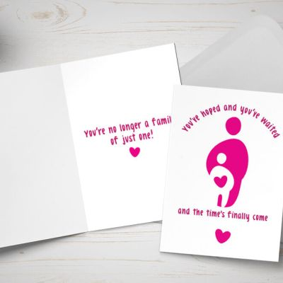 Placement card - single mother / single female adopter - pink and white