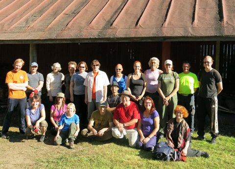 Kulttuuriympäristöleirin osallistujia 2013