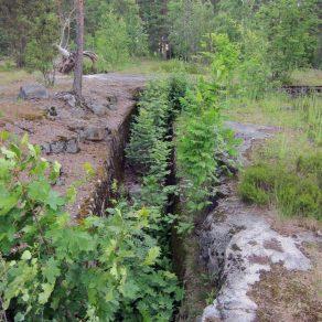 Kivikko, Kiinalaispuisto, I maailmansodan puolustusvarustus. Kuva: H. Hämäläinen.