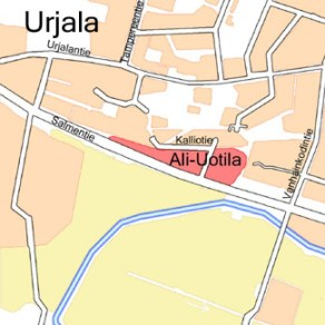 Urjalan Ali-Uotila kartalla.