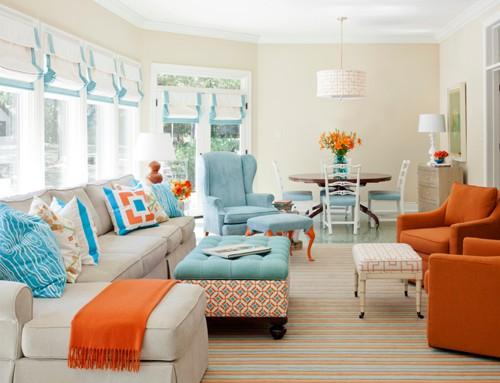 colorful living room | Centerfieldbar.com