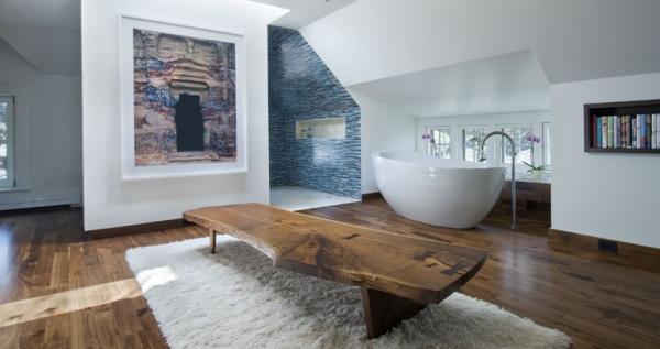 Contemporary Attic Bedroom With An En Suite Bathroom