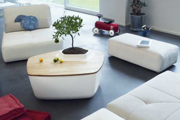 creative coffee tables featuring built-in plant pot – adorable home