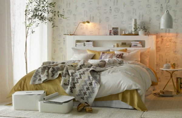 Elegant White And Gold Bedroom Adorable Home
