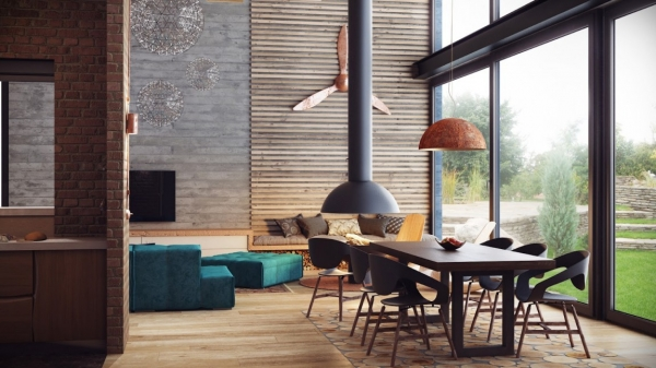 Warm And Hypnotic Industrial Style