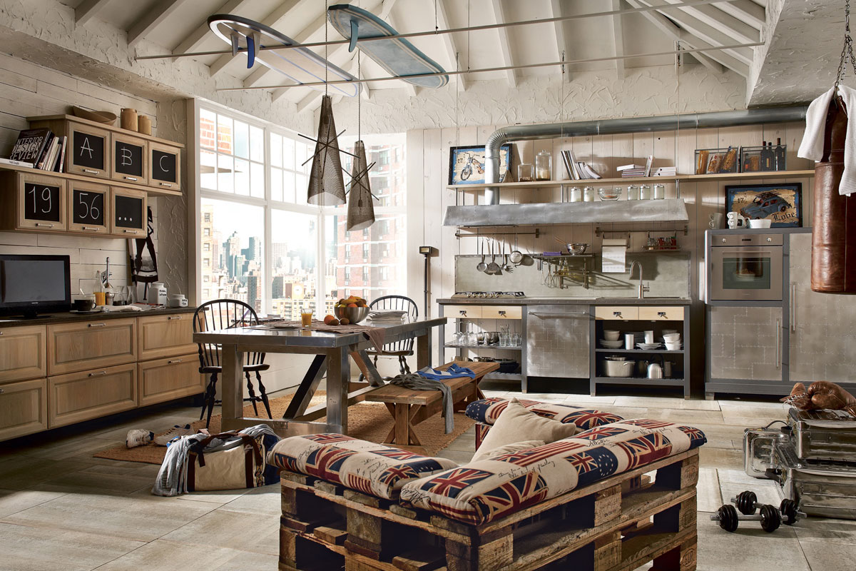 Vintage And Industrial Style Kitchens 5