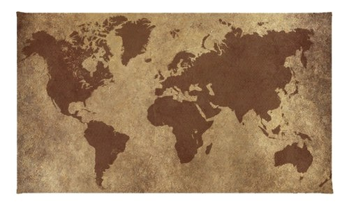 World Map Area Rug