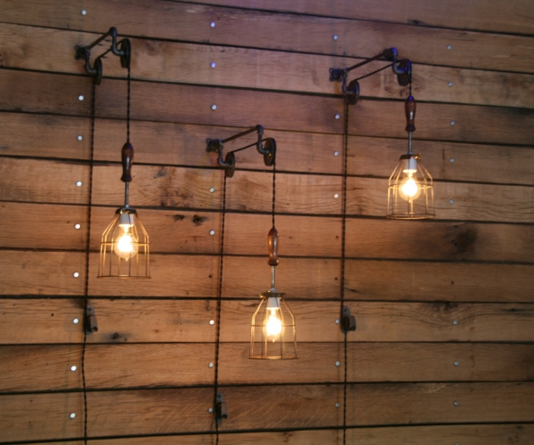 Pulley Mounted Industrial Wall Lights - Adorable Home on Wall Mounted Decorative Lights id=30416
