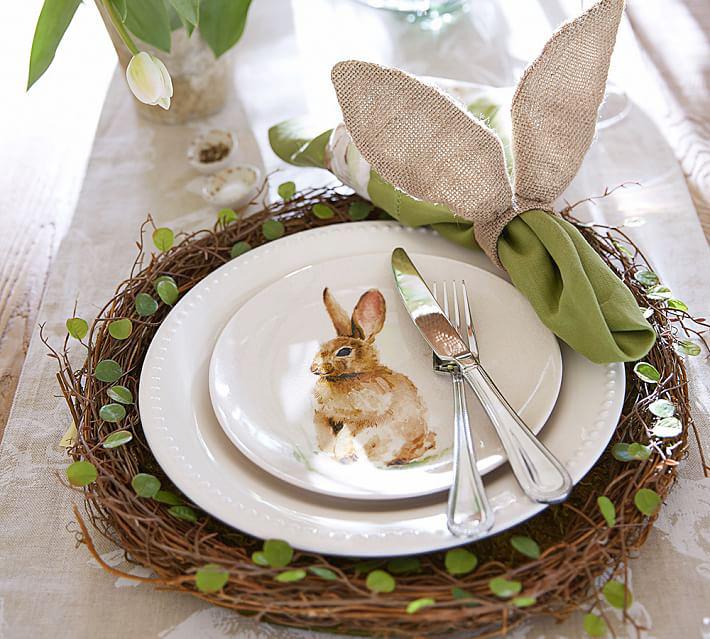 dekoracje stołu, wielkanocne dekoracje, rustykalne dekoracje, kwiaty na stole