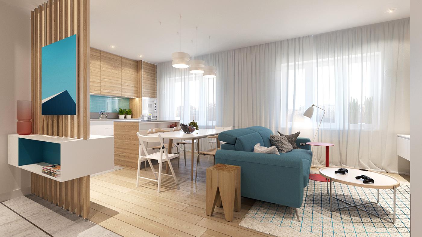 Colorful Modern Apartment Décor