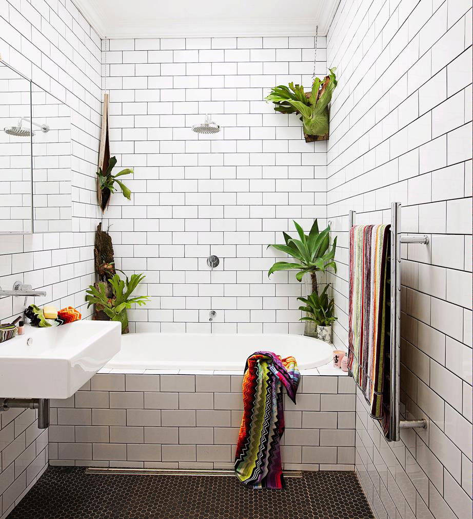 to lighten up a windowless bathroom