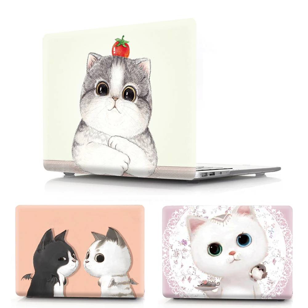 Cat Printed Hard Laptop Case for MacBook For Pet Lovers Tablet & Laptop Accessories