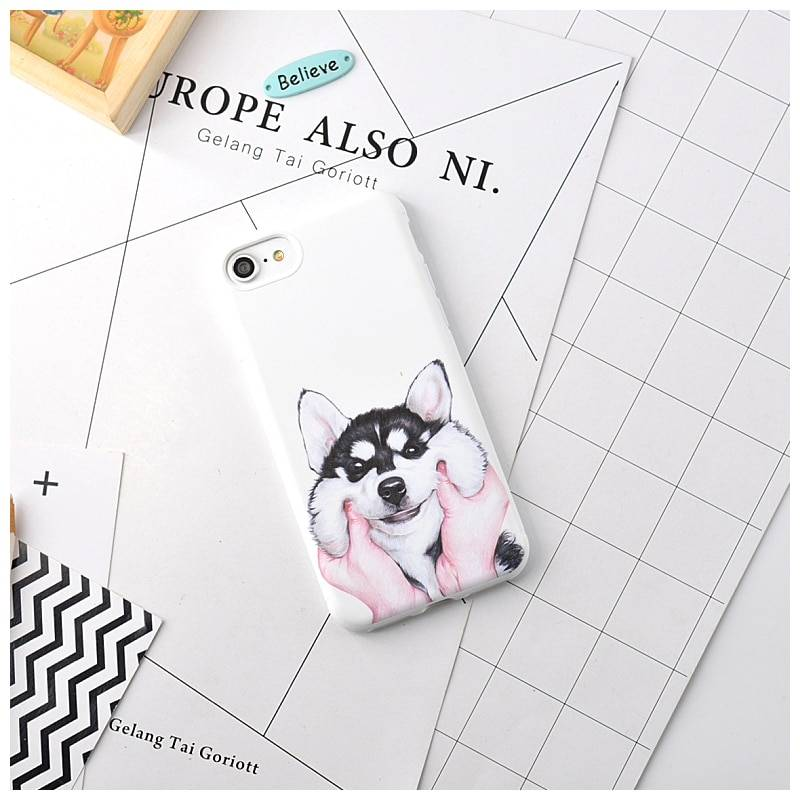 Lovely Cat and Dog Printed iPhone Case For Pet Lovers Phone Accessories