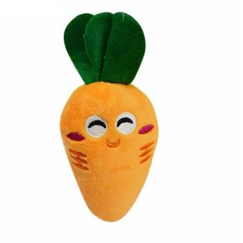Soft Fleece Smiling Carrot for Dog Dogs Toys