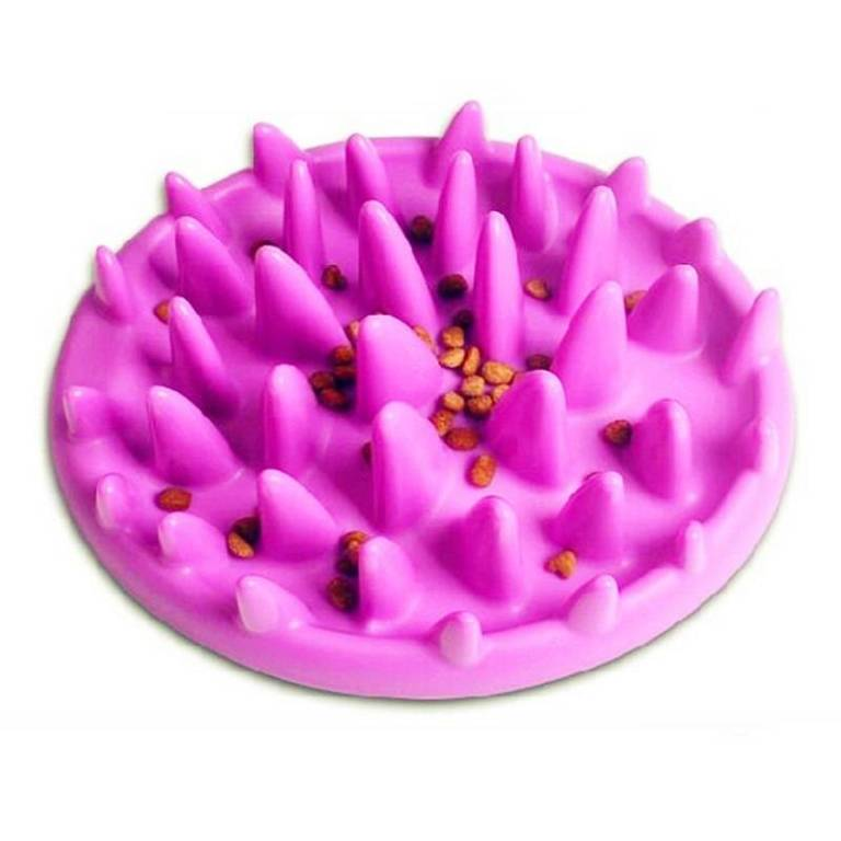 Interactive Training Slow Feeding Dog's Bowl Dogs Feeding & Watering Accessories Color: Pink Size: 27 x 23 cm